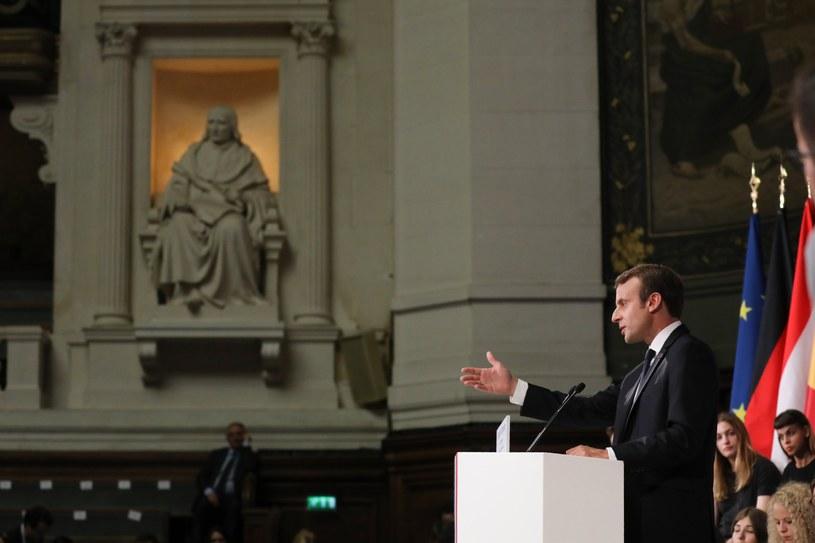Wystąpienie Macrona na Sorbonie /LUDOVIC MARIN /PAP/EPA