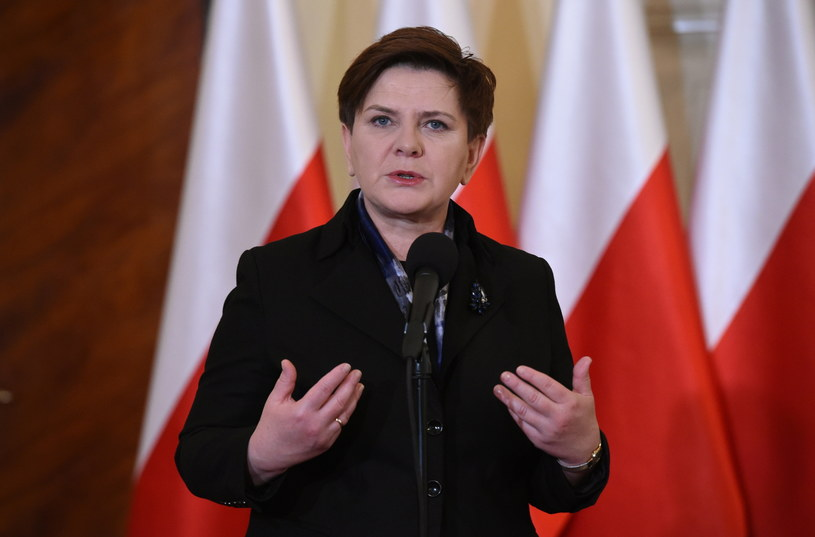 Wystąpienie premier Beaty Szydło /Radek Pietruszka /PAP