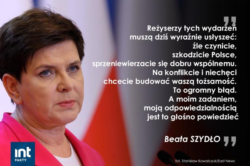 Wystąpienie premier Beaty Szydło /INTERIA.PL