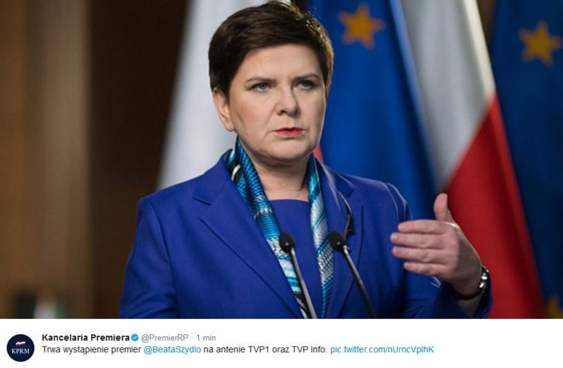 Wystąpienie premier Beaty Szydło /Twitter