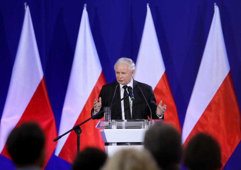 Wystąpienie prezesa Prawa i Sprawiedliwości Jarosława Kaczyńskiego podczas konwencji /Paweł Supernak /PAP