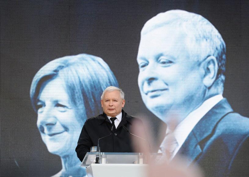 Wystąpienie prezesa Prawa i Sprawiedliwości Jarosława Kaczyńskiego /Paweł Supernak /PAP