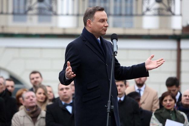 Wystąpienie prezydenta Andrzeja Dudy w Otwocku /Leszek Szymański /PAP
