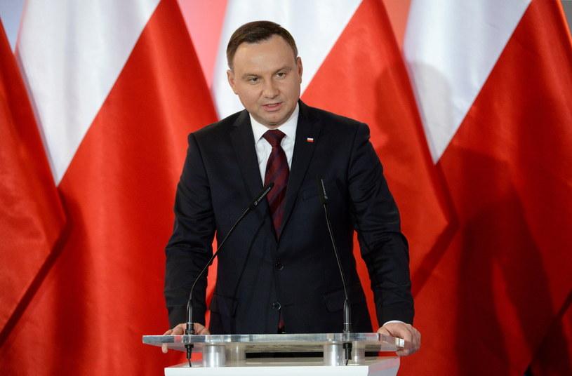 Wystąpienie prezydenta Andrzeja Dudy /Jacek Turczyk /PAP/EPA