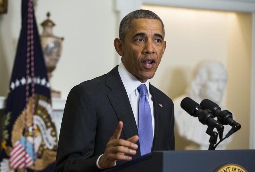 Wystąpienie prezydenta USA Baracka Obamy na temat Iranu /JIM LO SCALZO/EPA /PAP/EPA