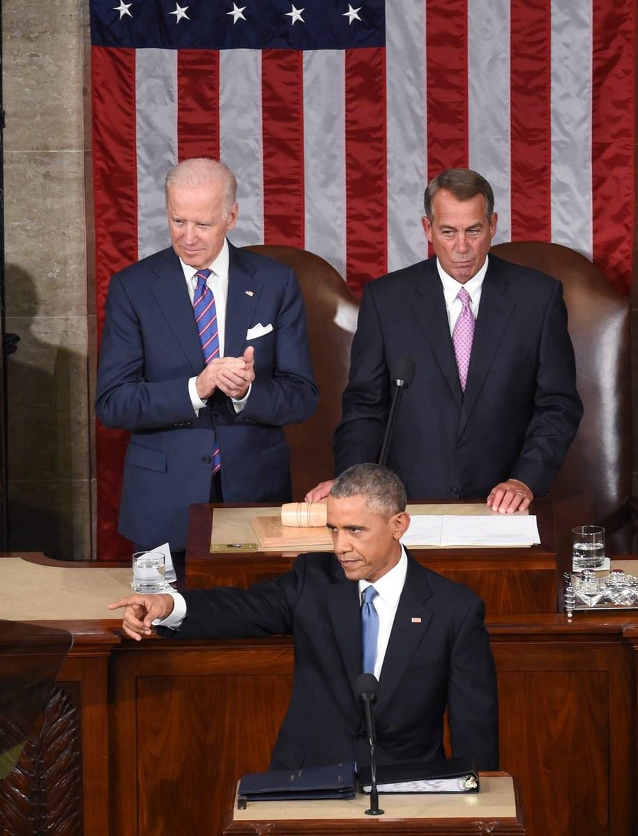 Wystąpienie prezydenta USA /MICHAEL REYNOLDS    /PAP/EPA