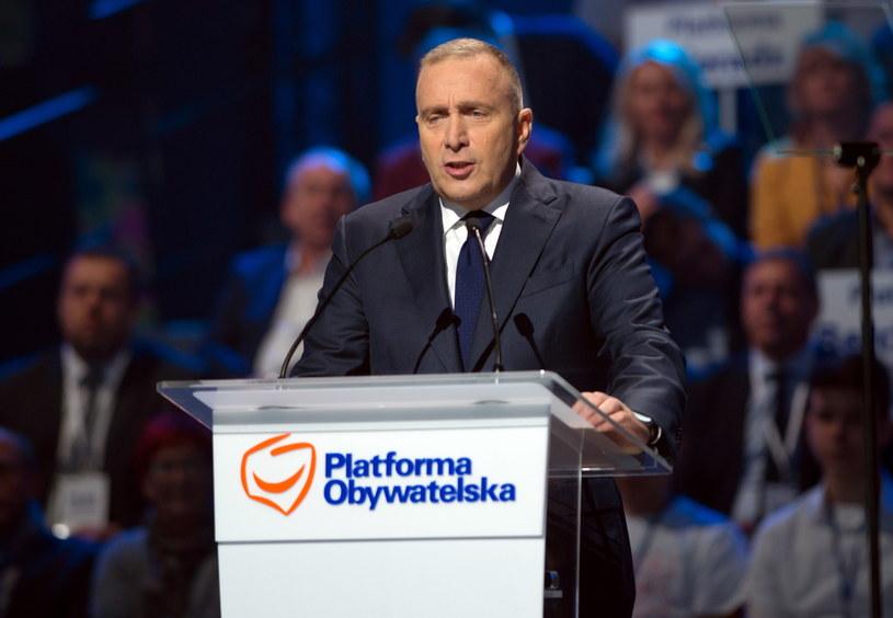 Wystąpienie przewodniczącego Platformy Obywatelskiej Grzegorza Schetyny /Grzegorz Michałowski /PAP