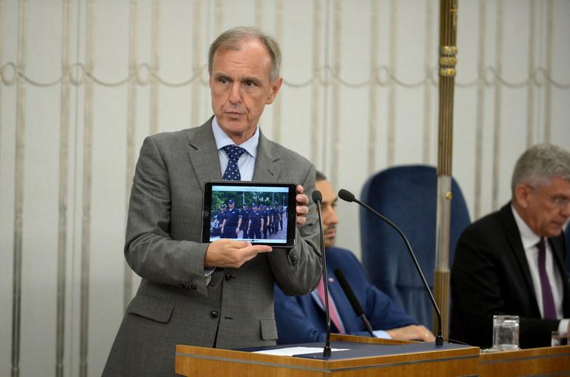 Wystąpienie senatora Klicha /Marcin Obara /PAP