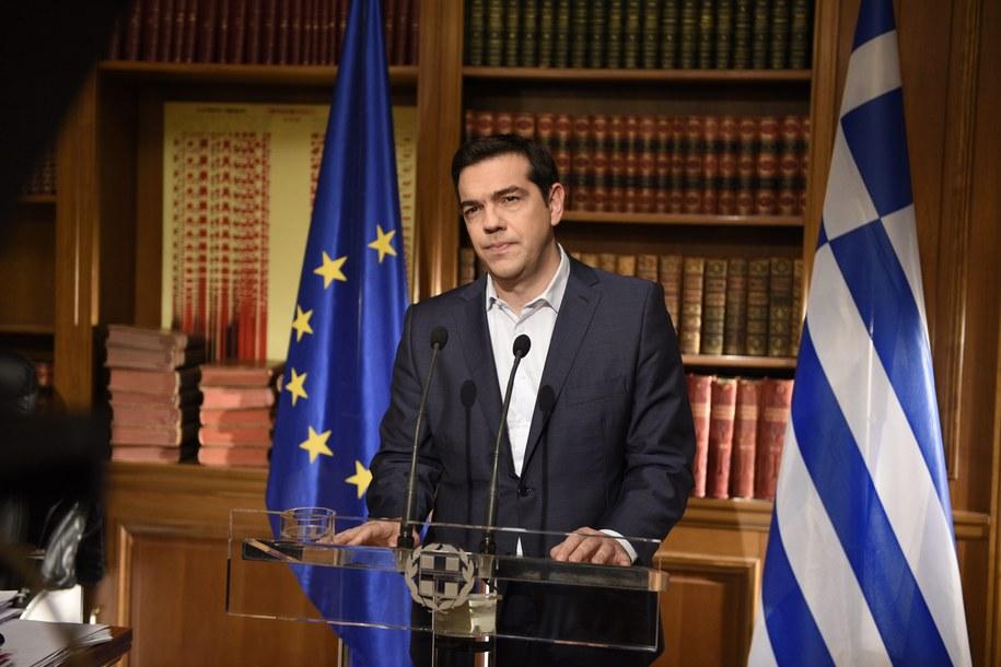 Wystąpienie telewizyjne premiera Grecji /ANDREA BONETTI /PAP/EPA
