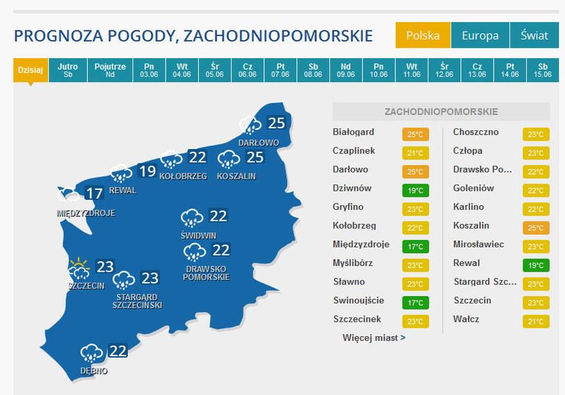 Wystarczyło kilka minut ulewy, żeby sparaliżować Szczecin. /INTERIA.PL