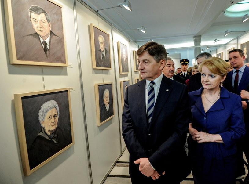 """Wystawa """"Portrety Smoleńskie"""" /Marcin Obara /PAP"""