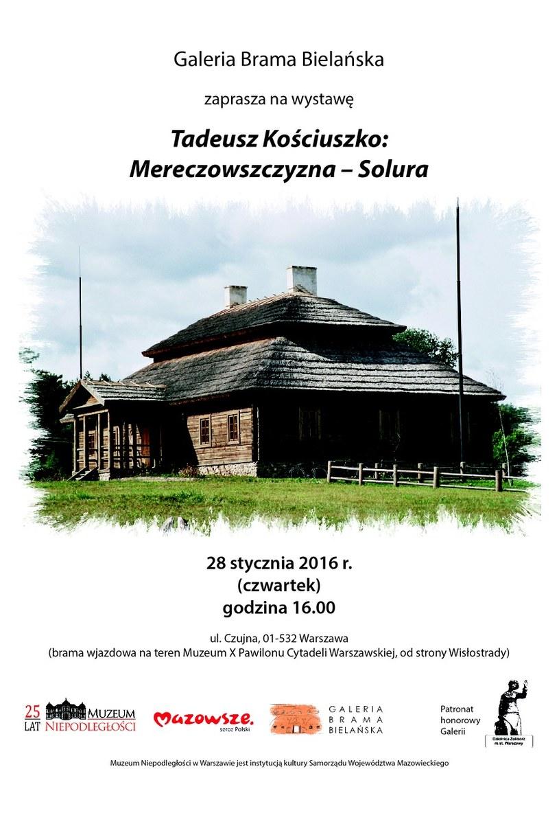Wystawa Tadeusz Kościuszko: Mereczowszczyzna – Solura /materiały prasowe