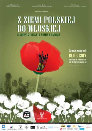 """Wystawa """"Z ziemi polskiej do włoskiej. 2 Korpus Polski i Armia Krajowa"""" /materiały prasowe"""