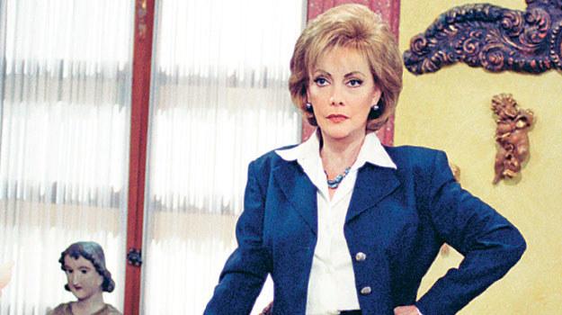 Wystrój biura Emilii Santillany współgrał z jej zdecydowanym i trudnym charakterem. /Televisa /materiały prasowe