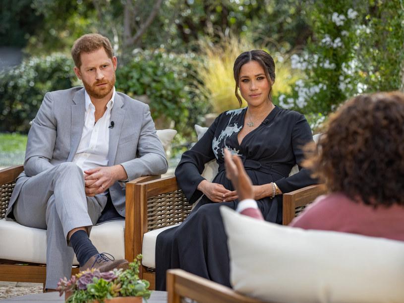 Wywiad Oprah Winfrey z Meghan Markle i księciem Harrym został wyemitowany przez telewizję CBS, fot. Harpo Productions/Joe Pugliese /brak /Getty Images