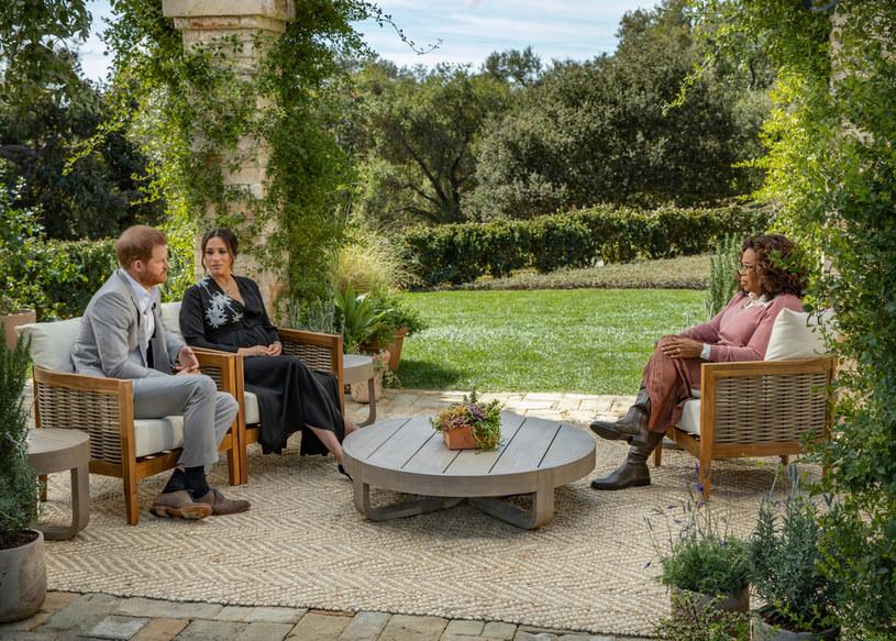Wywiad został przeprowadzony domu Mehgan i Harryego w Santa Barbara, fot. Harpo Productions/Joe Pugliese /Getty Images