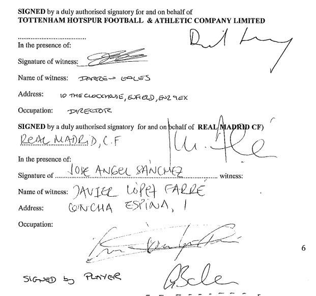 Wzbudzające wątpliwości podpisy pod kontraktem Bale'a /as.com /INTERIA.PL