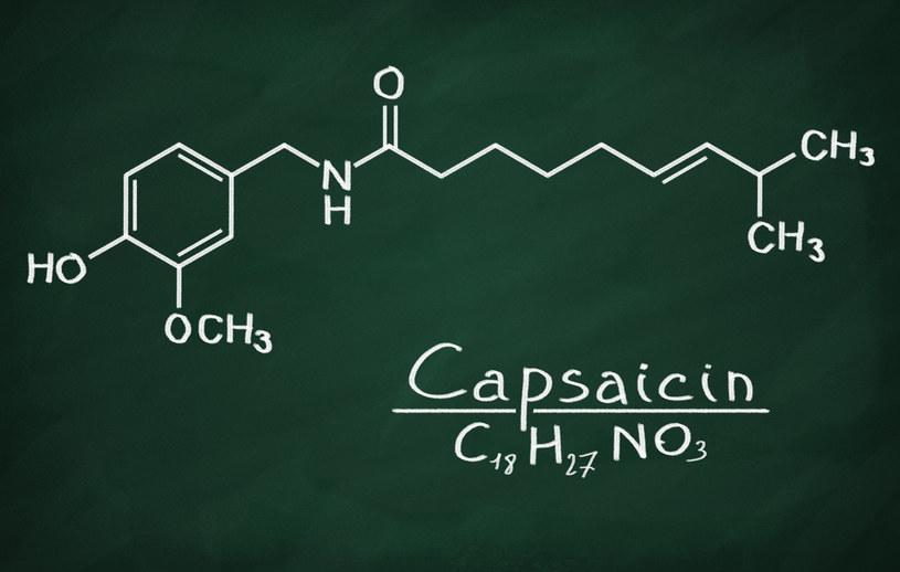 Wzór chemiczny kapsaicyny /123RF/PICSEL