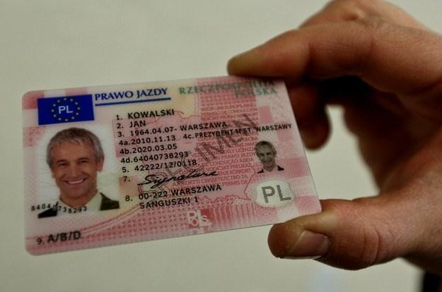 Wzór nowego prawa jazdy /PAP