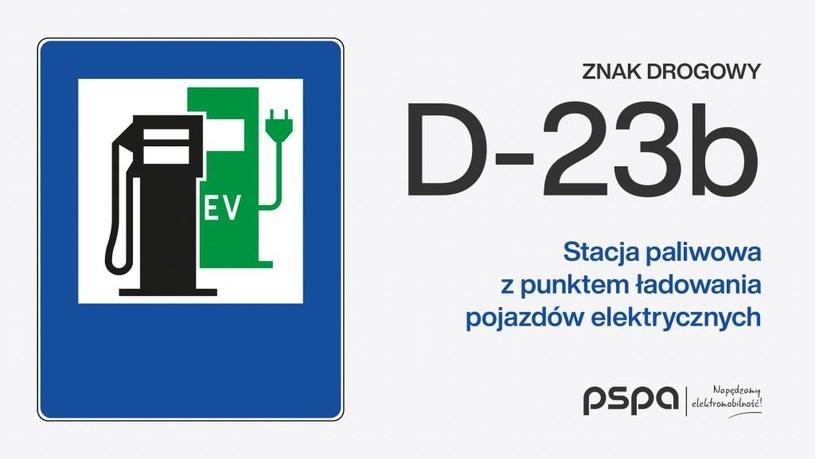 Wzór znaku D-23b / PSPA /