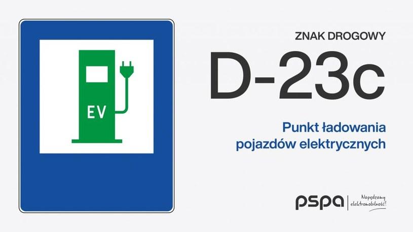 Wzór znaku D-23c / PSPA /