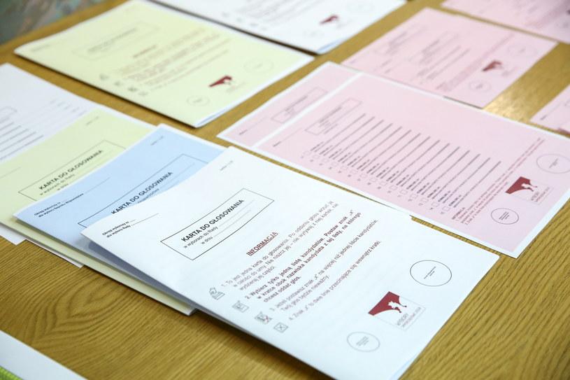 Wzory kart do głosowania zaprezentowane przez PKW /Rafał Guz /PAP