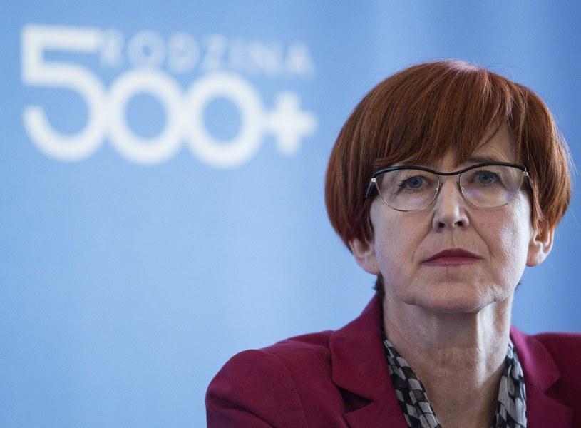 """Wzrost świadczeń to poboczny efekt programu """"Rodzina 500 plus"""". Na zdjęciu minister Elżbieta Rafalska /Andrzej Hulimka  /Reporter"""