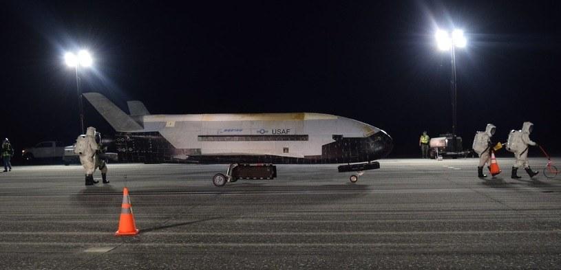 X-37B po powrocie. Zdjęcie USAF /materiały prasowe
