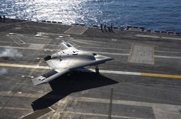 X-47B.   Fot. US Navy photo By Mass Communication Specialist Seaman Anthony N. Hilkowski/Released /materiały prasowe
