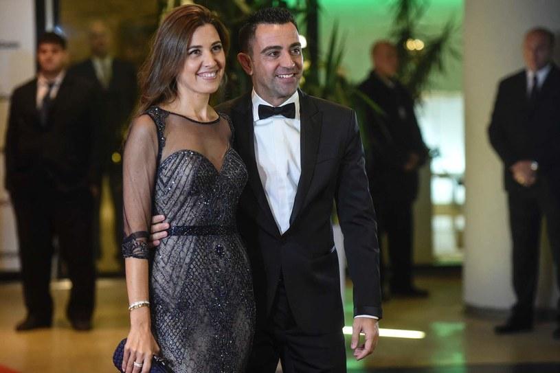 Xavi Hernandez z żoną /AFP