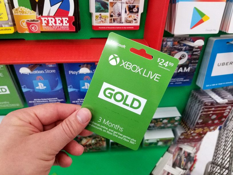 Xbox Live Gold - karta przedpłacona /123RF/PICSEL