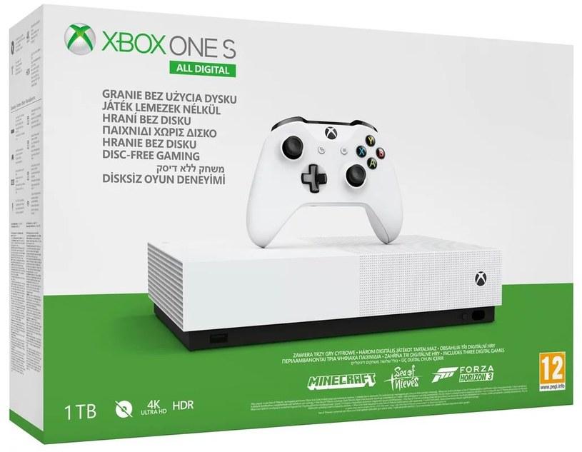Xbox One S All Digital /materiały prasowe
