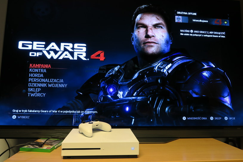 "Xbox One S, LG OLED i ""Gears of War 4"" /INTERIA.PL"