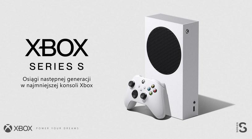 Xbox Series S  - tak prezentuje się nowa konsola (zdjęcie z oficjalnego profilu Xbox Polska) /materiały prasowe