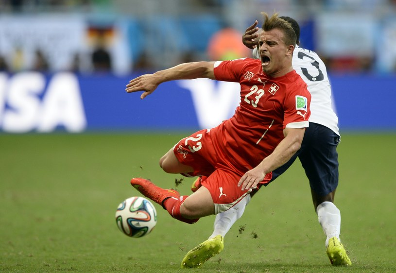 Xherdan Shaqiri, piłkarz reprezentacji Szwajcarii /AFP