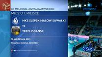 XII Memoriał Józefa Gajewskiego. Ślepsk Malow Suwałki – Trefl Gdańsk 3-2. Skrót meczu (POLSAT SPORT). Wideo