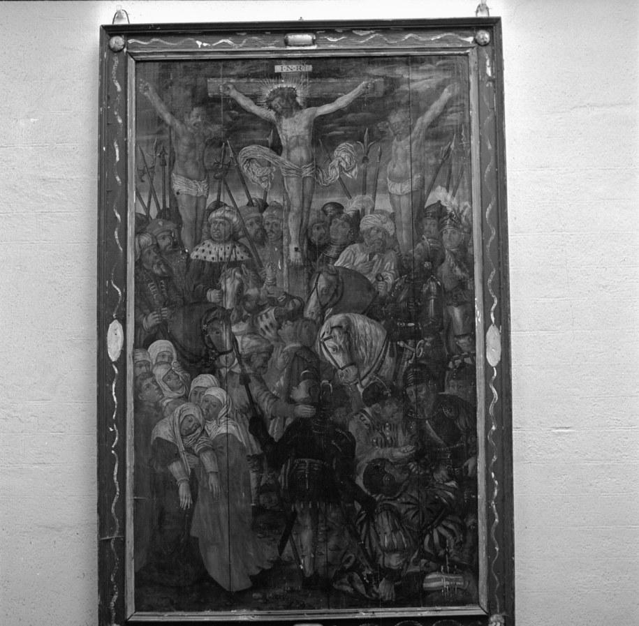 XII stacja Drogi Krzyżowej - Jezus umiera na krzyżu. Obraz pędzla Lucasa Cranacha /Andrzej Wituszyński /PAP