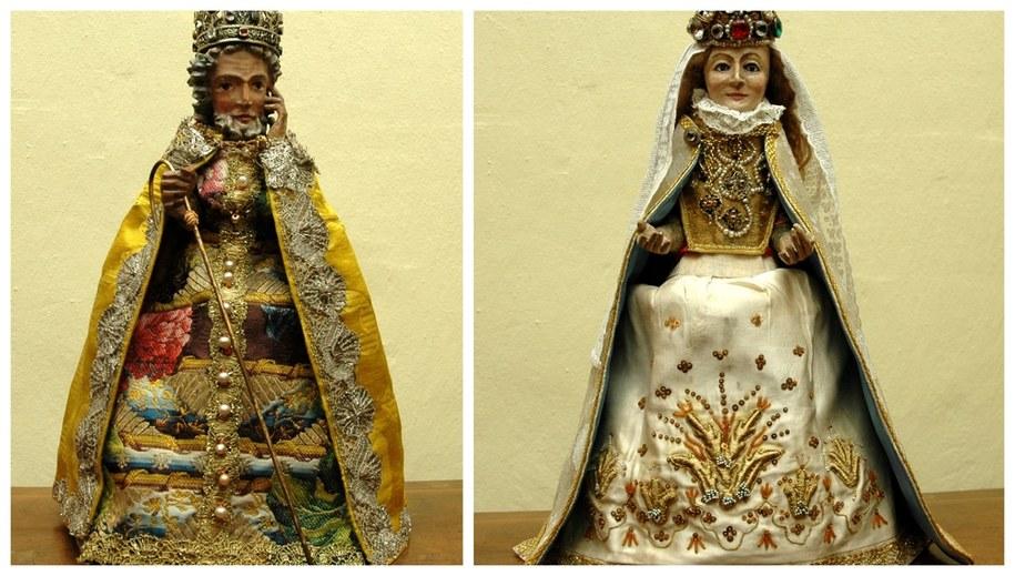 XIV-wieczne figurki jasełkowe, przedstawiające świętego Józefa i Maryję Pannę /foto. Klasztor Sióstr Klarysek Św. Andrzeja Apostoła /