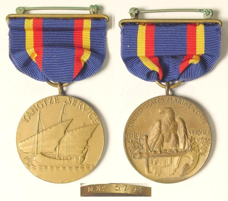 Yangtze Service Medal - amerykańskie odznaczenie nadawane żołnierzom Piechoty Morskiej za służbę na rzece Jangcy /zbiory autora /INTERIA.PL/materiały prasowe