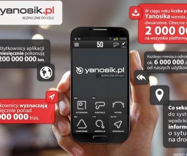 Yanosik - ponad 2 mln kierowców skorzystało z tej aplikacji!