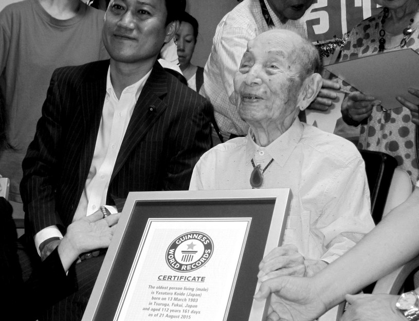 Yasutaro Koide miał 112 lat /JIJI PRESS / AFP /AFP