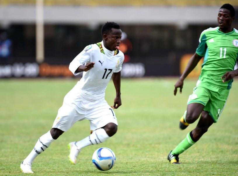 Yaw Yeboah w trykocie reprezentacji Ghany /AFP