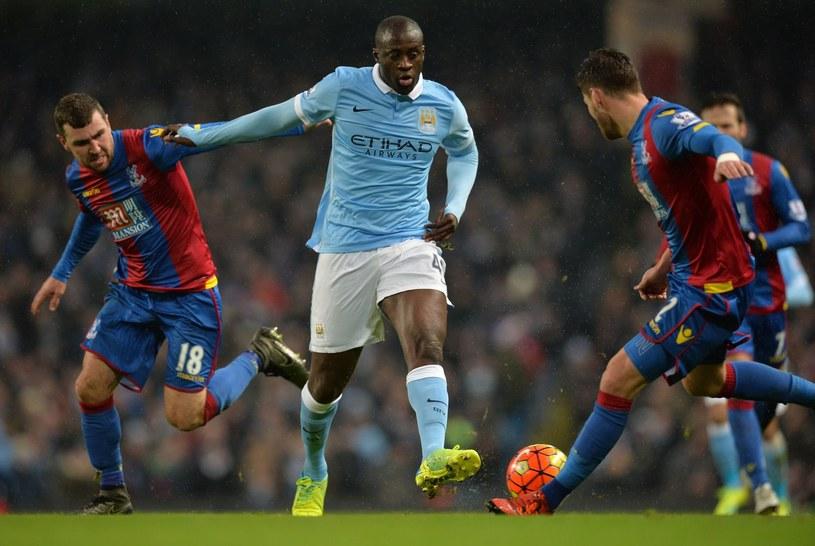 Yaya Toure w akcji (w błękitnym stroju) /AFP