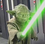 """Yoda: Kadr z """"Epizodu III"""" /"""