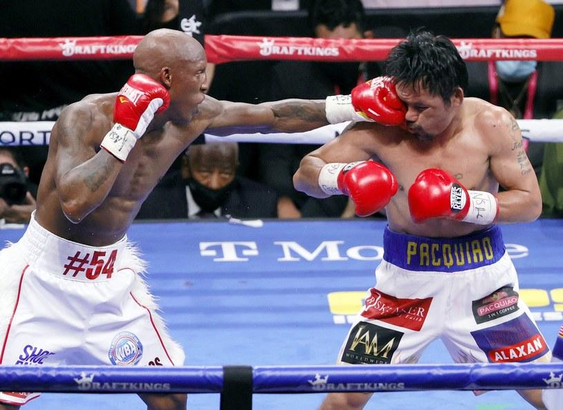 Yordenis Ugas w pojedynku z Mannym Pacquiao /AFP