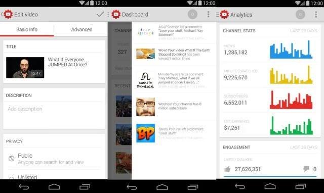 YouTube Creator - aplikacja umożliwiająca zarządzanie materiałami z serwisu YouTube /materiały prasowe