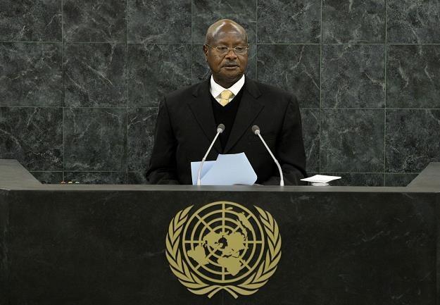 Yoweri Kaguta Museveni, prezydent Ugandy /AFP