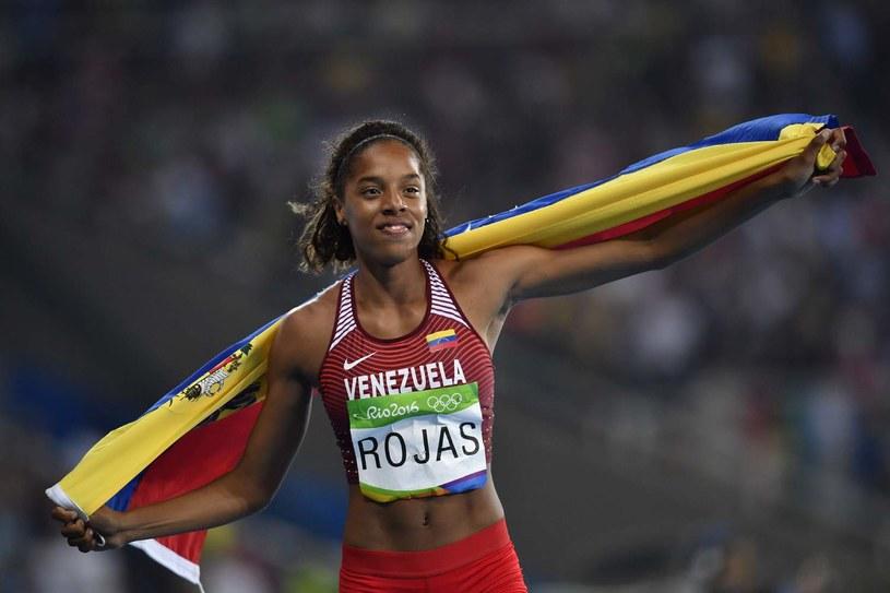 Yulimar Rojas świętuje zdobycie srebrnego medalu /AFP