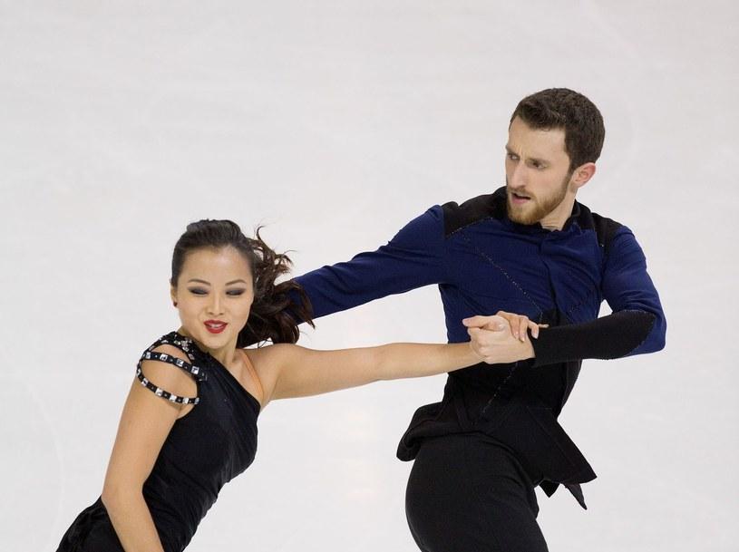 Yura Min z Korei Południowej oraz Alexander Gamelin podczas zawodów w USA /AFP