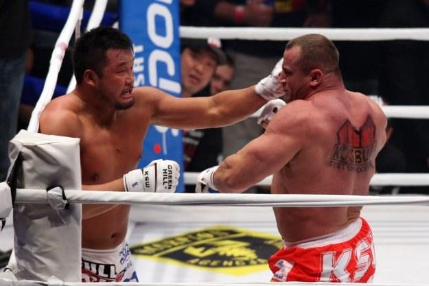 Yusuke Kawaguchi dzielnie stawił czoła Mariuszowi Pudzianowskiemu /Informacja prasowa